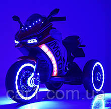 Детский мотоцикл М 4053L красный, черный, голубой, розовый, оранжевый,серый