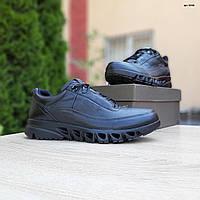 Мужские кроссовки, туфли Ecco кожаные ЭКО черные