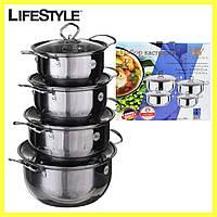 Набор кухонных кастрюль Royal Queen RY2061 из нержавеющей стали, фото 1