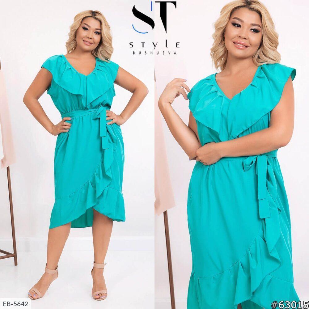 Стильное платье    (размеры 52-62) 0252-09