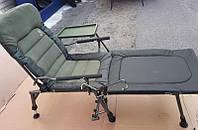 Кресло карповое со столиком, подставкой для спиннинга и с подставкой для ног Carp Elektrostatyk FK6 STP+POD.