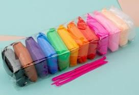 Детский разноцветный набор воздушного пластилина для творчества с инструментами Metr+ 12 цветов