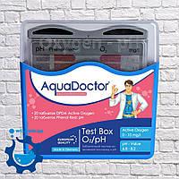 Таблеточный тестер для проверки активного кислорода и уровня pH в бассейне Aquadoctor Box pH и O2 Германия