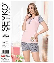 Молодежная пижама с шортами,Miss Victoria 65304