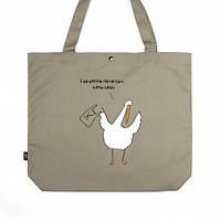 Эко сумка XXL Бережіть природу, мать вашу #I/F, фото 1