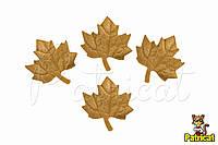Листики Золотые из Фоамирана (латекса) 2.5 см 10 шт/уп