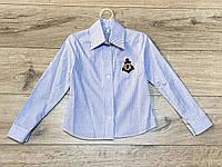 Катоновая блузка для девочек. 122- 128 рост.