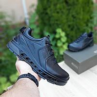 Мужские кроссовки, туфли Ecco Biom кожаные ЭКО черные