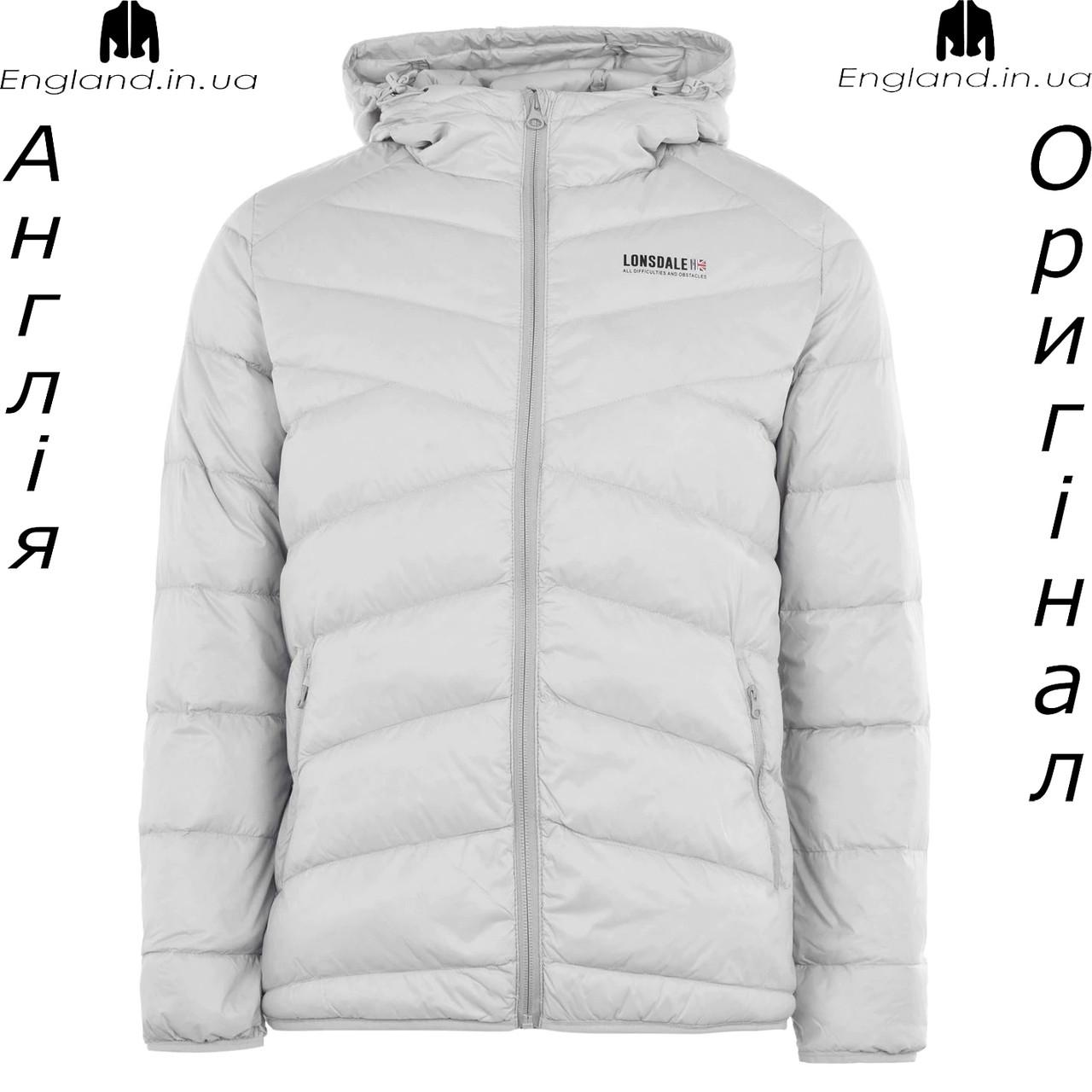 Куртка пуховик легкая мужская Lonsdale из Англии - демисезонная