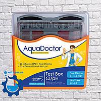 Таблеточный тестер для бассейна Aquadoctor Box pH и CL Германия тестер для проверки уровня pH и хлора