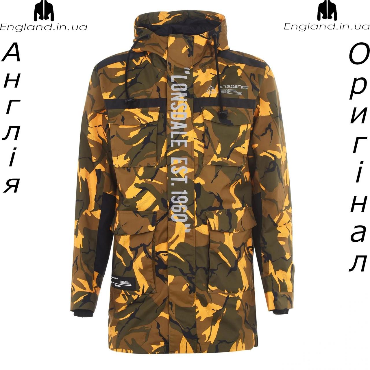 Куртка ветровка легкая мужская Lonsdale из Англии - камуфляжная