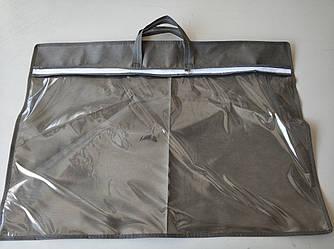 Упаковка для подушки 50х70 см усиленная ручка (две ручки) ПВХ 90 Серый