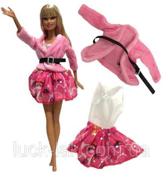 Набор платье и кофта для куклы Барби