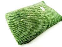 Полотенце сауна фибра-махра зелёного цвета (95*190 см.)
