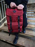 Рюкзак модный городской молодежный качественный красный Intruder Camping, фото 1