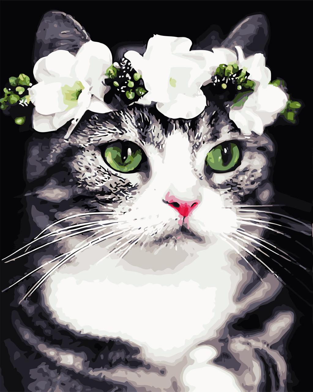 Картина по номерам - Романтичная кошка ArtStory 40*50 см. (AS0720)