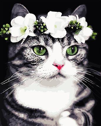 Картина по номерам - Романтичная кошка ArtStory 40*50 см. (AS0720), фото 2