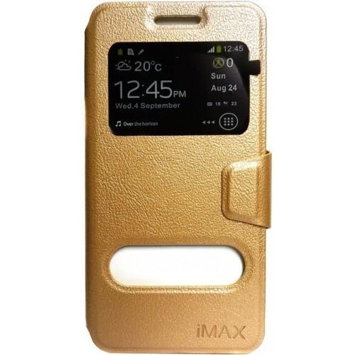 Книжка iMAX с окном для Samsung J5 2017 (J530) Gold (Код товара:4227)