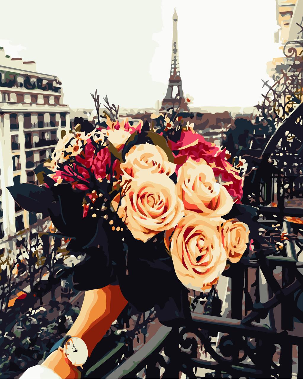 Картина по номерам - Мечты о Париже ArtStory 40*50 см. (AS0694)