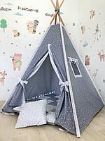 Вигвам домик детская игровая палатка «Белая звезда»