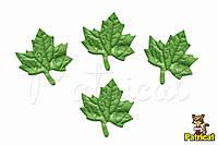 Кленовый лист из Фоамирана (латекса) Зеленый 2.5 см 10 шт/уп