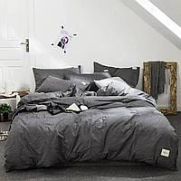 Постельное белье Bella Villa из вареного хлопка серый, фото 1