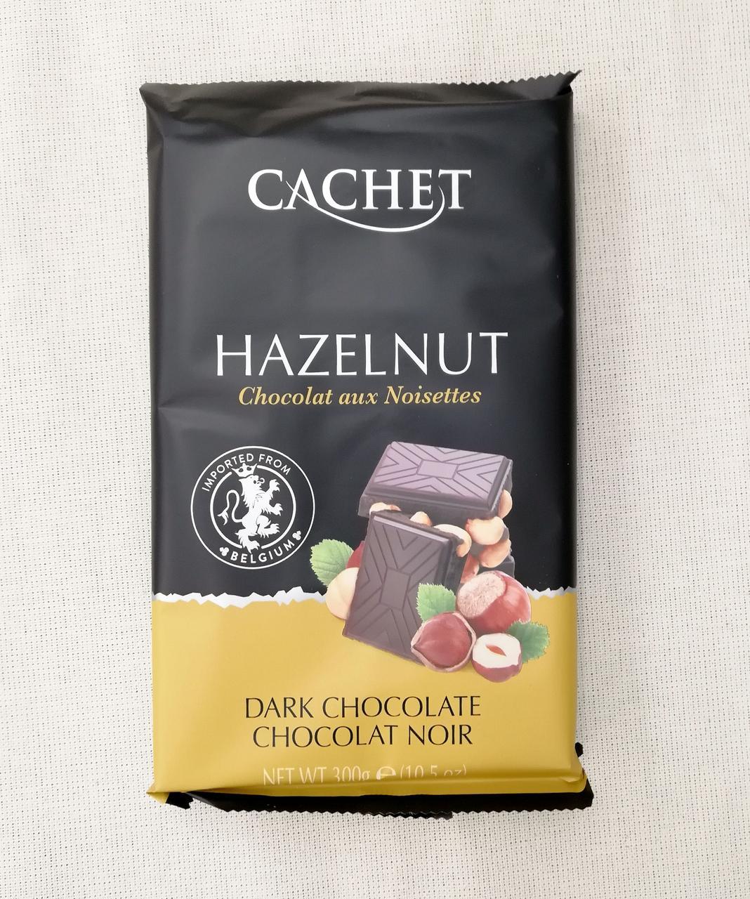 Cachet Dark chocolate Hazelnut 300 gramm