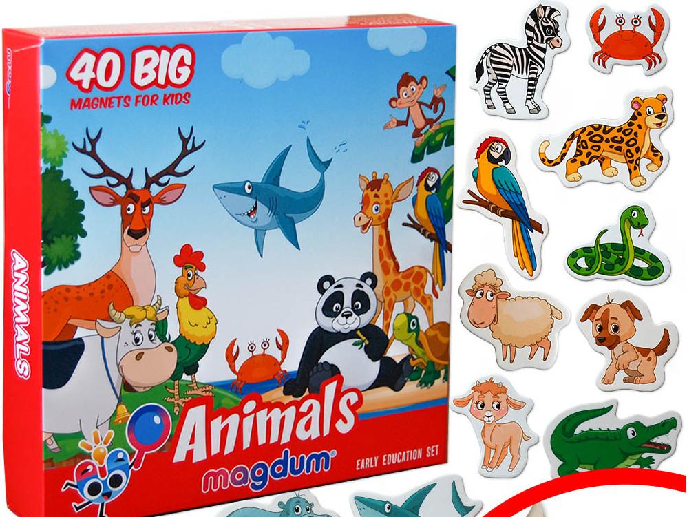 Набор детских магнитов Животные, Magdum (ML4031-16 EN)