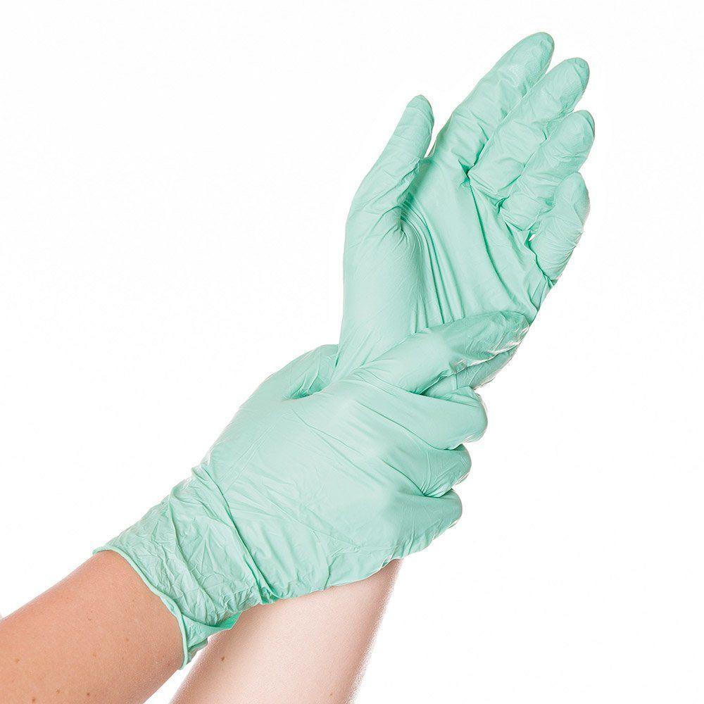 Перчатки Игар SempercareGreen нитриловые смотровые н/ст неприпудренные зеленые S
