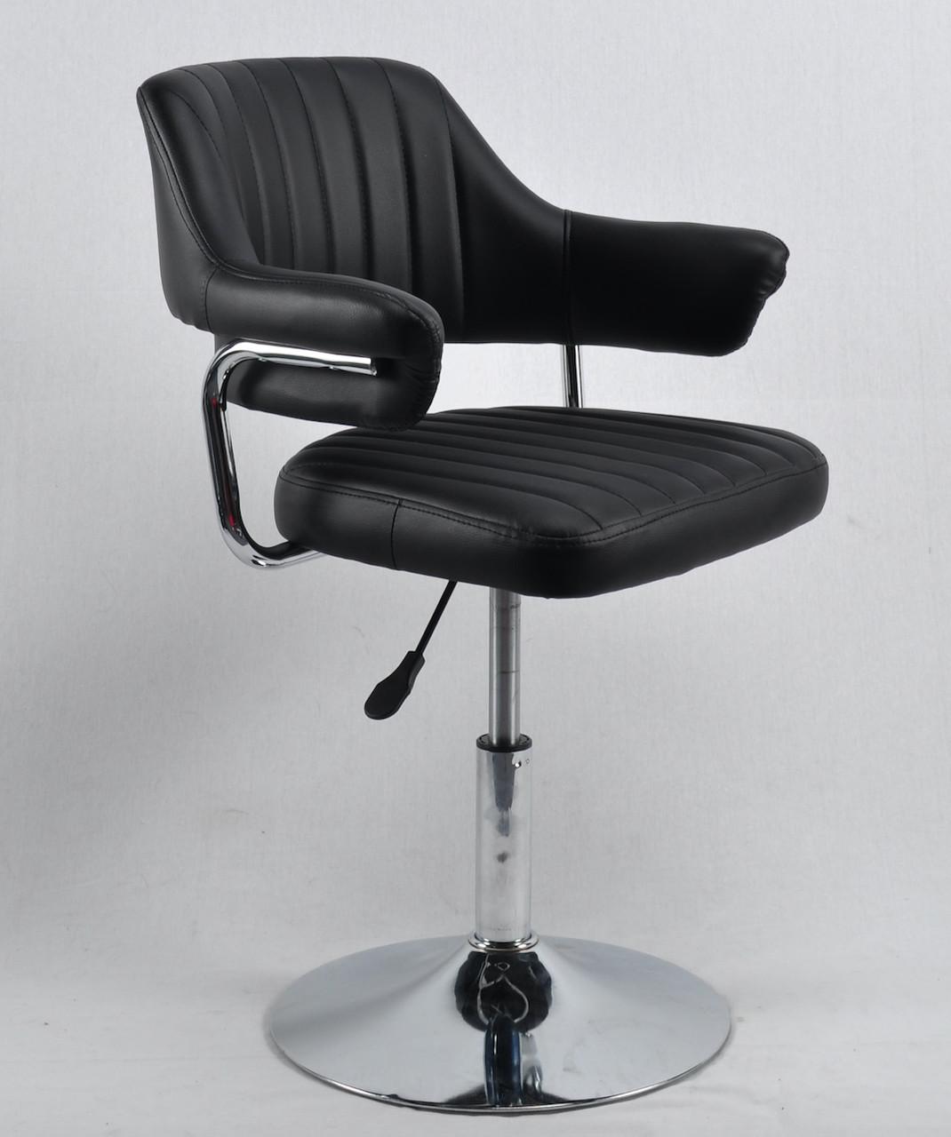 Кресло парикмахера Джеф JEFF CH - BASE черная экокожа