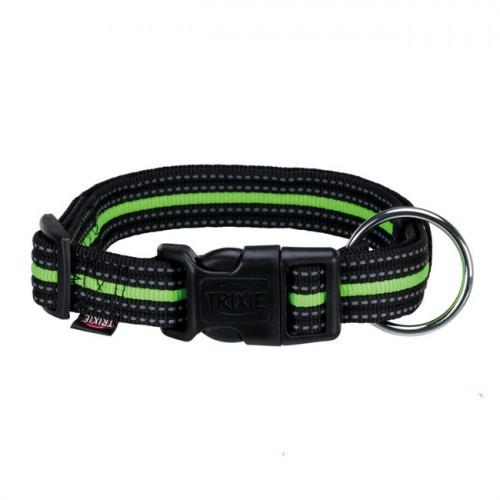 Ошейник нейлоновый Trixie Fusion для собак, 35–55 см/20 мм, чёрный/зелёный