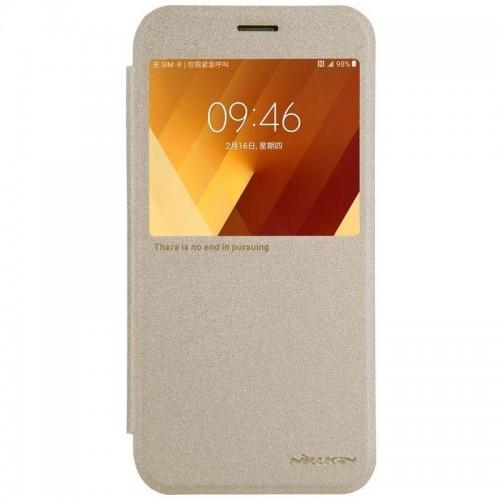 Чехол Samsung книжка A720 Gold Nillkin (Код товара:9677)