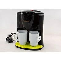 Кофеварка, CB 1560 Crownberg, Кофемашина с чашками, Кофеварка капельная для дома на 2 чашки