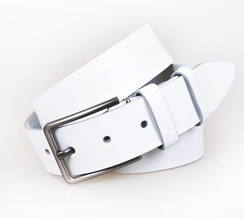 Белый Замшевый ремень унисекс Италия 130 см