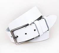 Белый Замшевый ремень унисекс Италия 130 см, фото 1