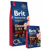Сухой корм для собак крупных пород Brit Premium Dog Adult L, Вес 15 кг