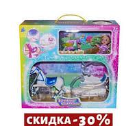 Карета с лошадкой (синее седло) и куклой