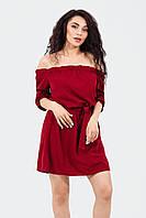 Удобное женское платье Sonia, марсала