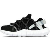 Женские кроссовки мужские кроссовки Найк Хуарачи НМ Nike Huarache NM черно-белые Original