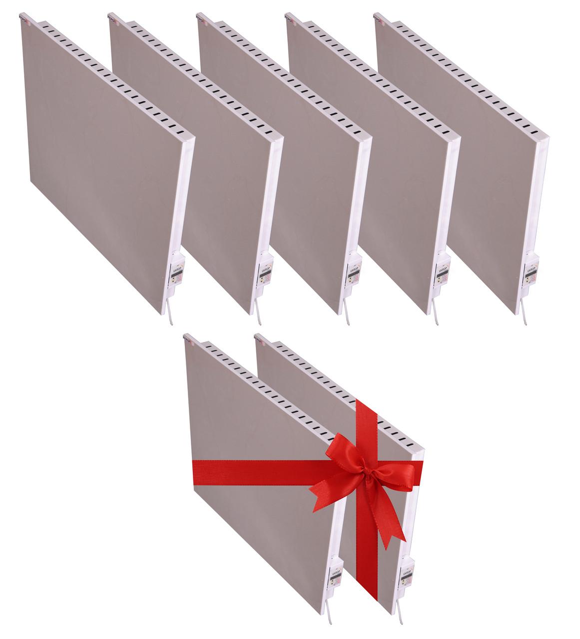 Промо-набор для электроотопления дома до 93 кв.м. керамическими обогревателями UKROP мощностью 4.7 кВт
