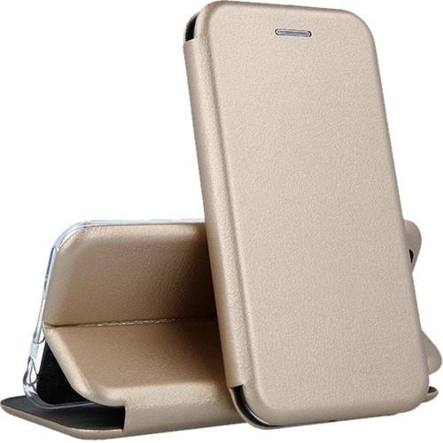 Чехол-книжка Premium Leather Case Samsung A01 (2020) A015F Gold (Код т
