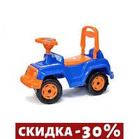 Машинка каталка 4 х 4 (сине-оранжевая)
