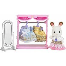 Sylvanian Families Calico Critters гардеробная с дочкой шоколадным кроликом 5236 Dressing Area Set