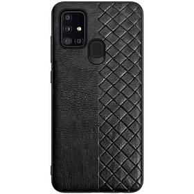 Шкіряна накладка WeaveSide (PU) для Samsung Galaxy A21s