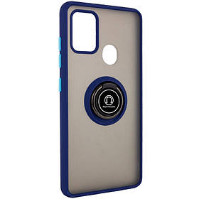 TPU+PC чехол Deen ColorEdgingRing for Magnet для Samsung Galaxy A21s