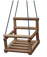 Качели деревянные подвесные детские для шведской стенки