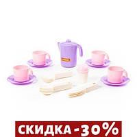 Набор детской посудки Анюта (фиолетовый)