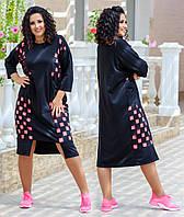 Женское платье - туника батал 48 - 62 рр двунитка + микро масло