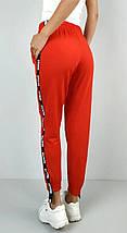 Спортивные штаны женские красные трикотаж с манжетами р. 42 Оschino (1230106238), фото 3