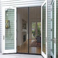 Москитная сетка на дверь размером 120*220 см на магнитах прошитая